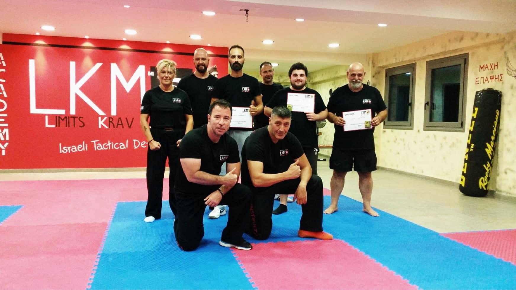 Νέοι εκπαιδευτές  Krav Maga στην Θεσσαλονίκη από την Limits Krav Maga